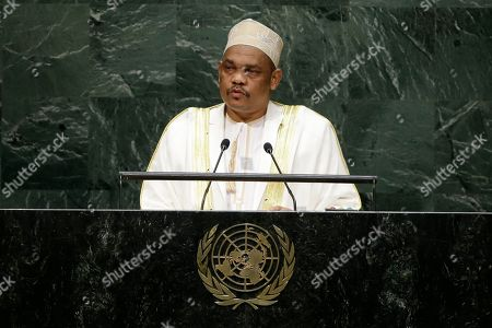 President Ikililou Dhoinine President Ikililou Dhoinine of the Comoros addresses the 69th session of the United Nations General Assembly at U.N. headquarters on