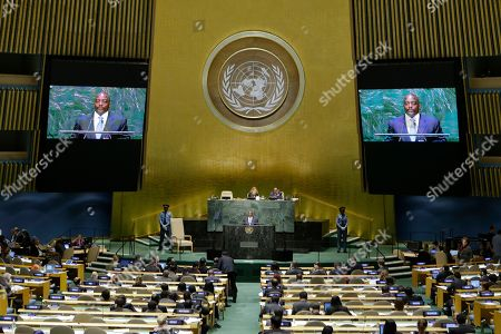 Joseph Kabila Kabange Joseph Kabila Kabange, President of the Democratic Republic of the Congo, addresses the 69th session of the United Nations General Assembly, at U.N. headquarters