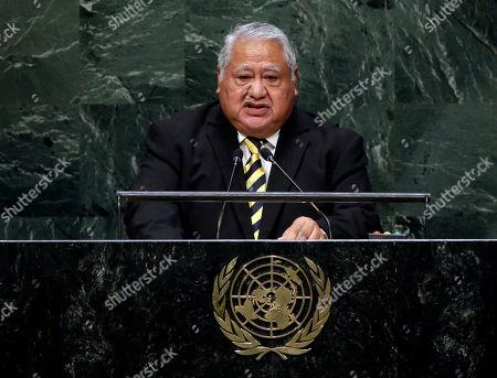 Tuilaepa Aiono Sailele Malielegaoi Prime Minister Tuilaepa Aiono Sailele Malielegaoi, of Samoa, addresses the 69th session of the United Nations General Assembly, at U.N. headquarters
