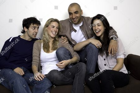 Stock Picture of The cast of 'KateModern' - Ralf Little (Gavin), Alex Weaver (Kate), Jai Rajani (Tariq) and Tara Rushton (Charlie). It is the UK spin-off from the hugely popular US webcast 'Lonely Girl 15' which will be aired on social networking site www.bebo.com from 16 July
