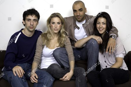 The cast of 'KateModern' - Ralf Little (Gavin), Alex Weaver (Kate), Jai Rajani (Tariq) and Tara Rushton (Charlie). It is the UK spin-off from the hugely popular US webcast 'Lonely Girl 15' which will be aired on social networking site www.bebo.com from 16 July