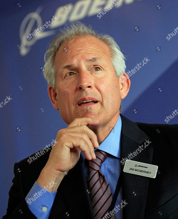 "Jim McNerney Boeing Company chairman and chief executive officer Jim McNerney, during a news conference, in Le Bourget, France. McNerney apologized, for saying the aerospace giant's employees were ""cowering"" during his tenure, a comment one union official called ""a new low"" in the company's relationship with workers"