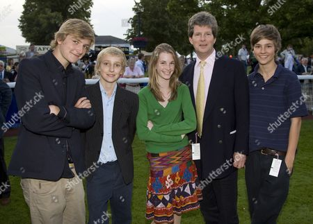 Guy Sangster and his children.Guy Sangster won the Littlewoods Pools Maiden Stakes, with their Horse 'Lady Aquitaine'.