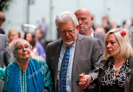 Rolf Harris, Bindi Harris, Alwen Harris Veteran entertainer Rolf Harris, centre, accompanied by his daughter Bindi, right, and wife Alwen, leave the Southwark Crown Court in London, . A jury Monday found Australian-born Harris guilty of 12 counts of indecent assault. The 84-year-old was convicted of indecent assault on four victims aged 19 or under between 1968 and 1986. Harris was a prominent British broadcaster for decades and once performed with the Beatles. He had denied the charges