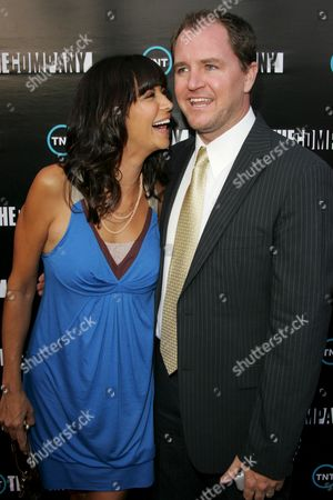 Stock Image of Catherine Bell and husband Adam Beason