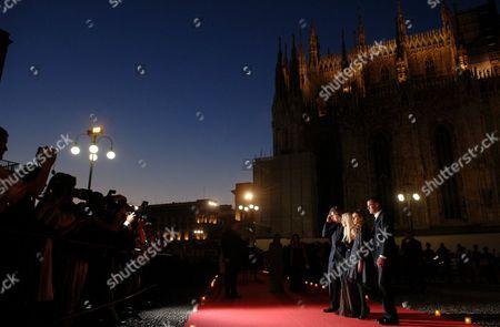 Daniel Versace Beck, Donatella Versace, Allegra Versace Beck and Paul Beck