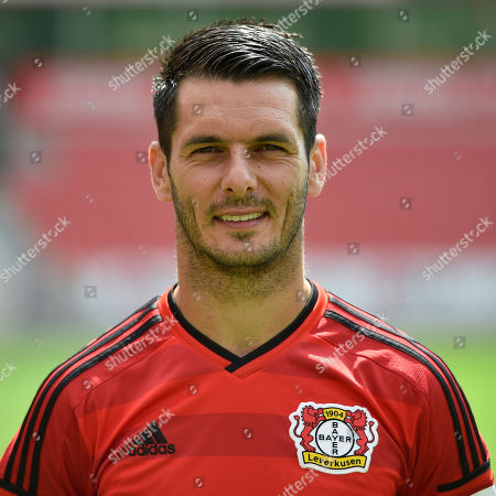 """In this Aug. 14, 2014 picture Bayer Leverkusen's Emir Spahic poses for a portrait photo for the new Bundesliga season 2014/15 in Leverkusen, Germany. Bayer Leverkusen has released Emir Spahic from his contract with immediate effect following his fight with security personnel after the German Cup defeat to Bayern Munich. Leverkusen managing director Michael Schade says """"the latest revelations from the case last Wednesday leave us no other choice"""