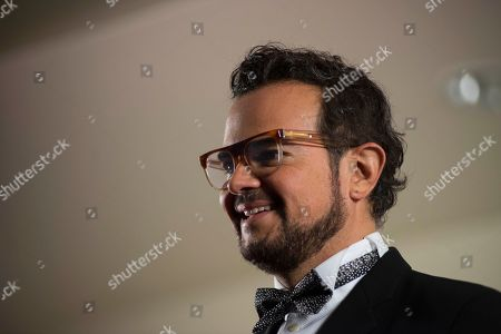 """Aleks Syntek Mexican singer, Aleks Syntek attends a press conference to promote his newest album, """"Romantico Desliz,"""" at the W Hotel in Mexico City, . Syntek has been a professional musician for 25 years and """"Romantico Desliz,"""" is his 10th album"""