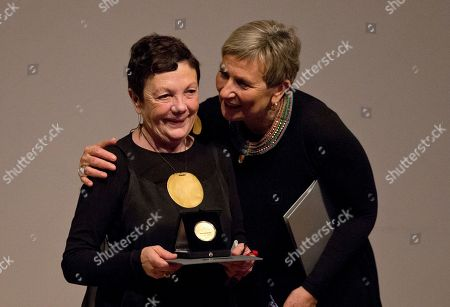 Graciela Iturbide Mexican photographer Graciela Iturbide, left, is congratulated by writer and friend Fabienne Bradu after receiving the 2014 Medal of Fine Arts, at the Palace of Fine Arts in Mexico City, . Iturbide, one of Mexico's best known photographers, was recognized with Mexico's highest arts award on Thursday