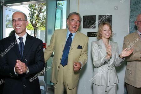 Jeffrey Katzenberg, Frank Mancuso and Jodie Foster