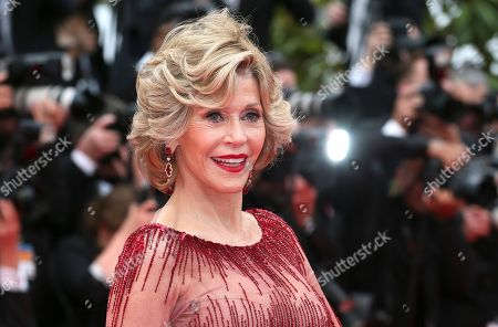 """Jane Fonda American actress Jane Fonda poses for photographers during the opening ceremony and the screening of """"Grace of Monaco"""" at the 67th international film festival, Cannes, southern France. Fonda is being honored with the 42nd American Film Institute Life Achievement Award at the Dolby Theatre on June 5, 2014, in Los Angeles. Her father, Henry Fonda, received the award in 1978"""