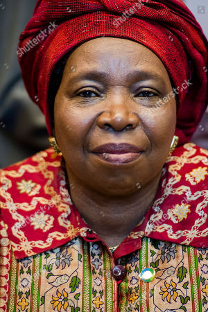 Nkosazana Clarice Dlamini Zuma African Union Commission Chairperson Nkosazana Clarice Dlamini Zuma arrives for the second day of an EU Africa summit at the EU Council building in Brussels on . Leaders of some 70 nations from Africa and the European Union meet to improve political and economic cooperation between the two continents. The two-day summit in Brussels started Wednesday also features discussions about development aid, climate change and migration issues