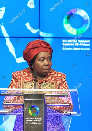 Nkosazana Clarice Dlamini Zuma African Union Commission Chairperson Nkosazana Clarice Dlamini Zuma addresses the media at the end of an EU-Africa summit in Brussels on . Leaders of some 70 nations from Africa and the European Union meet to improve political and economic cooperation between the two continents. The two-day summit in Brussels started Wednesday also features discussions about development aid, climate change and migration issues