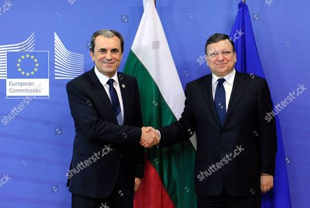 Jose Manuel Barroso, Plamen Oresharski European Commission President Jose Manuel Barroso, right, welcomes Bulgarian Prime Minister Plamen Oresharski at the European Commission headquarters in Brussels, . European Union leaders are seeking a way to bounce back from Sunday's landmark elections that saw a partly hostile and largely apathetic public question their project of closer cooperation as never before