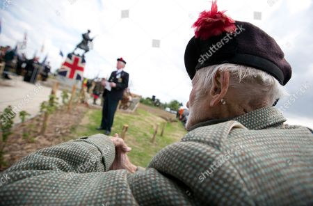 Stock Picture of Peter Watson Black Watch World War Two veteran, Peter Watson, 93, from Surrey, England attends the unveiling of the new World War One Black Watch memorial at Black Watch Corner in Zonnebeke, Belgium, on . The new statue was unveiled to remember the 8,000 dead and more than 20,000 wounded Black Watch soldiers who fought in 1914-1918 war