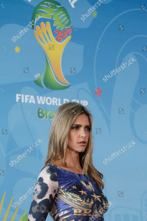 Fernanda Lima Brazilian model Fernanda Lima attends the launch event of the Football for Hope Festival 2014 at the Caju slum complex, in Rio de Janeiro, Brazil, . The festival also known as the Social World Cup, brings together 32 teams of young leaders from FIFA-supported social community projects from Brazil and around the world for an intercultural exchange and a soccer tournament