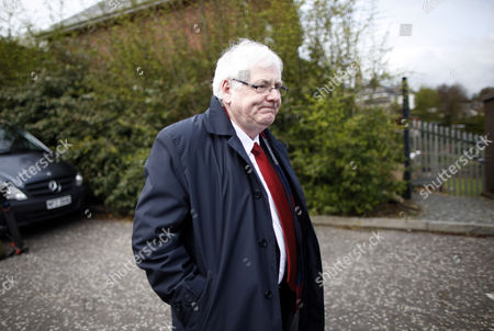 Stock Picture of Michael Gallagher, whose son Aiden died in the 1998 Omagh bomb leaves Dungannon Court, Northern Ireland, Friday, April, 11, 2014. Gallagher was at court to watch Seamus Daly, 43, from Cullaville, Co Monaghan in the Irish Republic, appear at a sitting after he was charged Thursday evening with 29 counts of murder