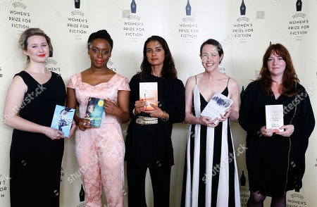Authors shortlisted for the Bailey's Women's Prize for Fiction Hannah Kent - Burial Rites, left, Chimamanda Ngozi Adichie - Americanah, second left, Jhumpa Lahiri - The Lowland, centre, Audrey Magee - The Undertaking, second right, and Eimear McBride - A Girl is a Half-Formed Thing, right, also shortlisted but not present was Donna Tartt - The Goldfinch during a photocall ahead of the awards ceremony at the Royal Festival Hall in London, . The Baileys Women's Prize for Fiction is the UK's only annual book award for fiction written by a woman