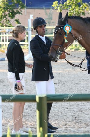 Athina Onassis with Doda Miranda and his horse