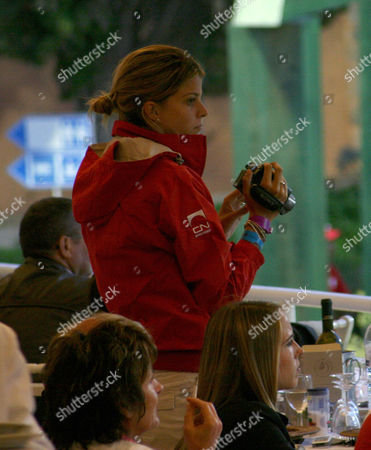 Athina Onassis filming the competition