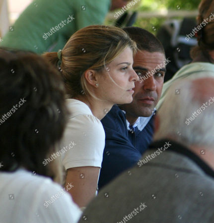 Athina Onassis with Doda Miranda watching the competition
