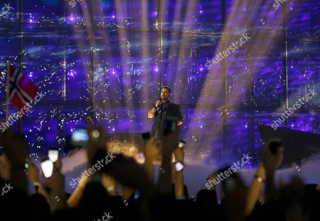Carl Espen Carl Espen representing Norway performs the song 'Silent Storm' during the second semifinal of the Eurovision Song Contest in the B&W Halls in Copenhagen, Denmark