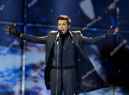Singer Aram MP3 representing Armenia performs the song 'Not Alone', during the first semifinal of the Eurovision Song Contest in the B&W Halls in Copenhagen, Denmark