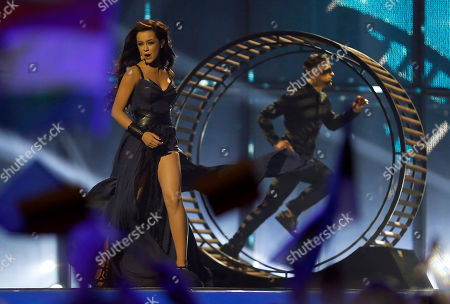 Singer Mariya Yaremchuk representing Ukraine performs the song 'Tick-Tock', during the first semifinal of the Eurovision Song Contest in the B&W Halls, in Copenhagen, Denmark