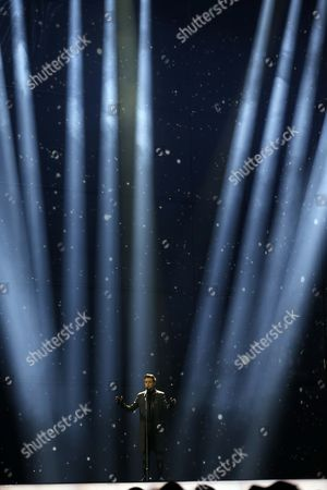 Singer Aram MP3 representing Armenia performs the song' Not Alone', during the first semifinal of the Eurovision Song Contest in the B&W Halls in Copenhagen, Denmark