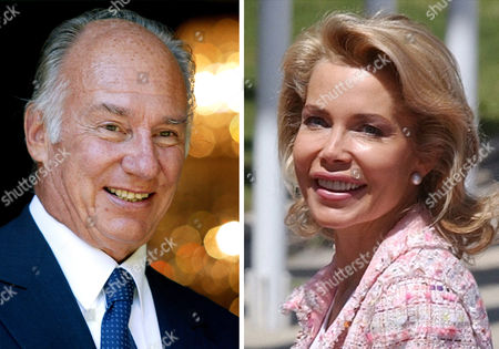 "FILE - In this photo combo are seen the Aga Khan, imam of the Ismaili Muslim community, on Sept. 6, 2004 in Berlin and his then wife Begum Inaara Aga Khan on May, 20,2004 in Madrid. Lawyers for the Aga Khan and his ex-wife Princess Gabriele Renate Inaara Zu Leiningen released a statement saying their marriage ""ends by consent"" after the Paris Court of Appeals approved a divorce settlement. The lawyers would not provide any further detail, saying terms of the settlement are confidential. The two married in 1998, and started divorce proceedings several years later after having a son"