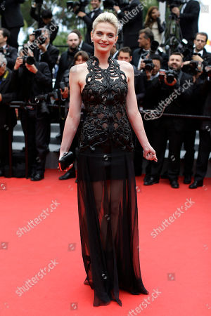 Sarah Marshall Model Sarah Marshall poses for photographers as she arrives for the screening of Foxcatcher at the 67th international film festival, Cannes, southern France