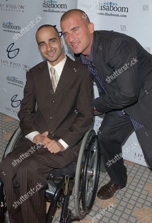 Stock Picture of Jesse Billauer and Dominic Purcell