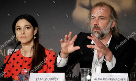 Monica Belucci, Sam Louwyck Actor Sam Louwyck, right, and actress Monica Belucci during a press conference for The Wonders (La Meraviglie) at the 67th international film festival, Cannes, southern France