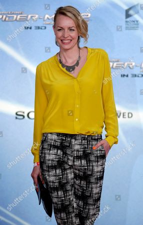 German actress Simone Hanselmann poses for the media during the Germany premiere of the movie 'The Amazing Spider-Man 2' in Berlin, Germany