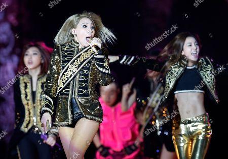 Lee Chae-rin, Sandara Park Member of the South Korean K-Pop girl group 2NE1 Lee Chae-rin, left Sandara Park perform during their concert as part of the world tour in Hong Kong