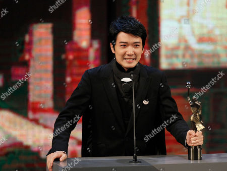 """Babyjohn Choi Hong Kong actor Babyjohn Choi reacts after winning the Best New Performer for his role in the movie """"The Way We Dance"""" at the 33rd Hong Kong Film Awards in Hong Kong"""