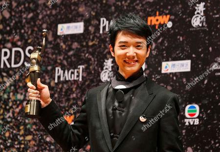 """Babyjohn Choi Hong Kong actor Babyjohn Choi poses after winning the Best New Performer of his movie """"The Way We Dance"""" at the 33rd Hong Kong Film Awards in Hong Kong"""