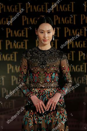 Isabella Leong Hong Kong actress Isabella Leong poses on the red carpet of the 33rd Hong Kong Film Awards in Hong Kong