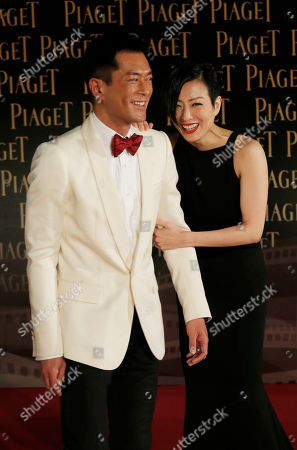 Louis Koo, Sammi Cheng Hong Kong actress Sammi Cheng and actor Louis Koo pose on the red carpet of the 33rd Hong Kong Film Awards in Hong Kong
