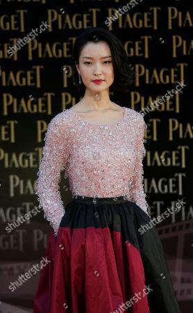 Du Juan Chinese actress Du Juan poses on the red carpet of the 33rd Hong Kong Film Awards in Hong Kong