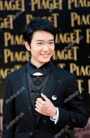 Babyjohn Choi Hong Kong actor Babyjohn Choi poses on the red carpet of the 33rd Hong Kong Film Awards in Hong Kong