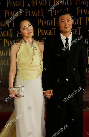 Shawn Yue, Miriam Yeung Hong Kong actor Shawn Yue and actress Miriam Yeung pose on the red carpet of the 33rd Hong Kong Film Awards in Hong Kong