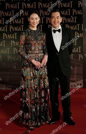 Isabella Leong, Anthony Wong Hong Kong actress Isabella Leong, left, and actor Anthony Wong pose on the red carpet of the 33rd Hong Kong Film Awards in Hong Kong