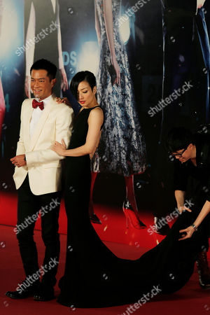Louis Koo, Sammi Cheng Hong Kong actor Louis Koo and actress Sammi Cheng pose on the red carpet of the 33rd Hong Kong Film Awards in Hong Kong