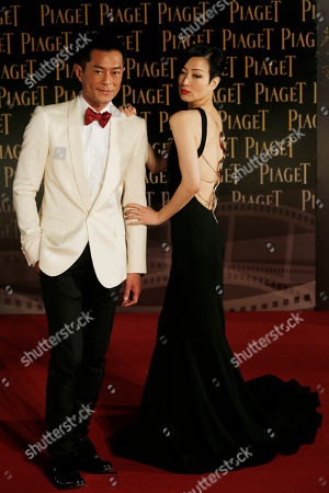 Louis Koo, Sammi Cheng Hong Kong actor Louis Koo and actress Sammi Cheng pose on the red carpet of the 33rd Hong Kong Film Awards in Hong Kong