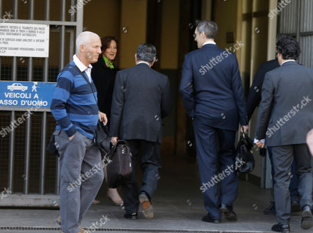 Silvio Berlusconi's lawyers Franco Coppi and Niccolo' Ghedini arrive at the court in Milan, Italy, . A Milan court holds a hearing to determine how Silvio Berlusconi will serve his tax fraud sentence. The options include community service and house arrest. The court has five days to issue a decision