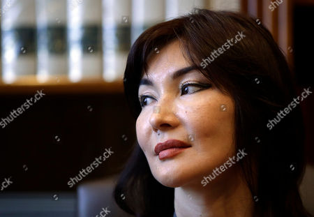 Kazakh dissident Mukhtar Ablyazov's wife Alma Shalabayeva meets journalists during a press conference in Rome, . Shalabayeva has arrived in Italy on Dec. 2013, with her young daughter seven months after they were improperly deported back to Kazakhstan in a case that fueled tensions in Italy