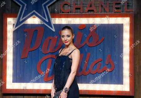 Stock Photo of Anna Tsuchiya Japanese actress Anna Tsuchiya poses as she arrives at the Chanel Paris Dallas Metiers d'Art fashion show in Tokyo