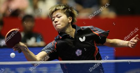 Huang Yi-Hua Huang Yi-Hua of Taiwan competes against Li Jiao of the Netherlands during her best eight playoff match of the World Team Table Tennis Championships in Tokyo