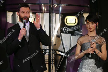 Hugh Jackman Australian actor Hugh Jackman who plays Wolverine, left, and Japanese actress Ayame Goriki, right, who does Japanese stand-in for Mystique in the Japanese version of the movie attend an event for the Japan Premiere of X-Men Days Of Future Past in Tokyo